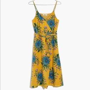 Madewell Silk Floral Wrap Dress Painted Blooms XL